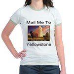 Mail Me To Yellowstone Jr. Ringer T-Shirt