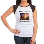 Mail Me To Yellowstone Women's Cap Sleeve T-Shirt