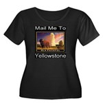 Mail Me To Yellowstone Women's Plus Size Scoop Nec