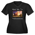 Mail Me To Yellowstone Women's Plus Size V-Neck Da