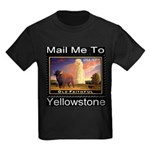Mail Me To Yellowstone Kids Dark T-Shirt