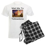 Mail Me To Yellowstone Men's Light Pajamas