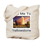 Mail Me To Yellowstone Tote Bag