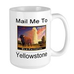 Mail Me To Yellowstone Large Mug