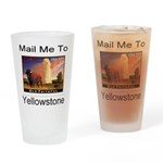 Mail Me To Yellowstone Drinking Glass