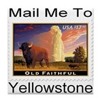 Mail Me To Yellowstone Tile Coaster