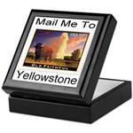 Mail Me To Yellowstone Keepsake Box