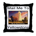 Mail Me To Yellowstone Throw Pillow