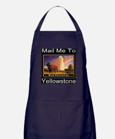 Mail Me To Yellowstone Apron (dark)
