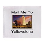 Mail Me To Yellowstone Throw Blanket