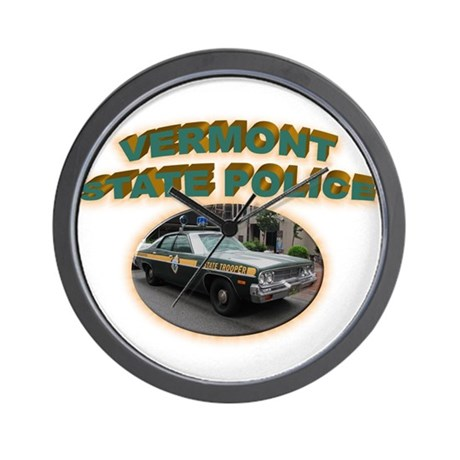 Vermont State Police Wall Clock