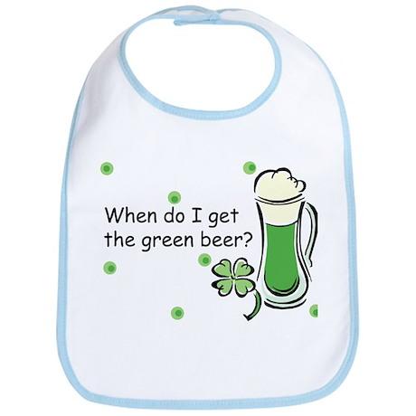 Irish Green Beer Baby Bib