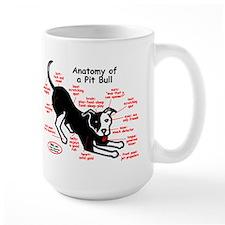 Pitbull Anatomy Ceramic Mugs