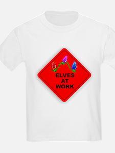 CAUTION Elves At Work T-Shirt