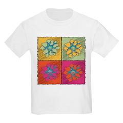 Retro Pop Art Colorful Flower T-Shirt