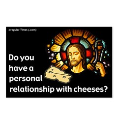 Cheesy Relationship with Jesus Postcards