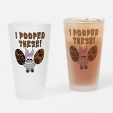 Easter Bunny Chocolate Eggs Drinking Glass
