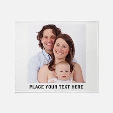 Customize Photo Text Throw Blanket