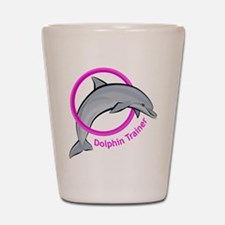 Dolphin Trainer Pink Shot Glass