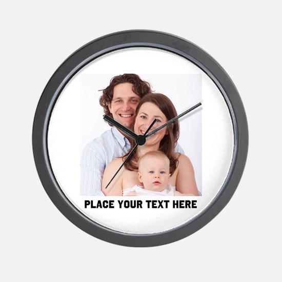 Customize Photo Text Wall Clock