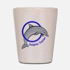 Dolphin Trainer Blue Shot Glass