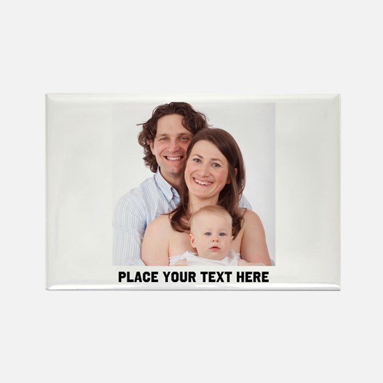 Customize Photo Text Rectangle Magnet