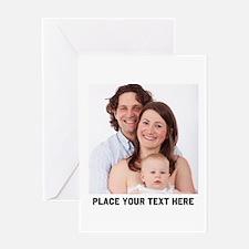 Customize Photo Text Greeting Card