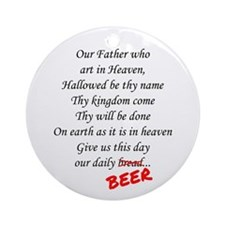 Daily Beer Ornament (Round)