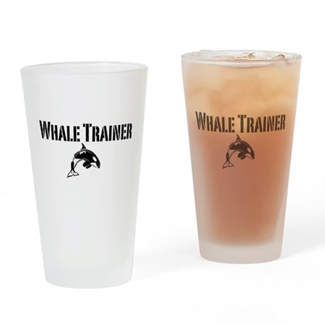 Whale Trainer Light Drinking Glass
