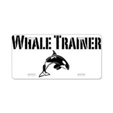Whale Trainer Light Aluminum License Plate