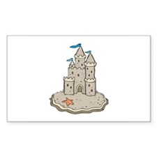 Sand Castle Rectangle Decal