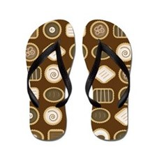 Chocolate Lover Bon Bon Flip Flops