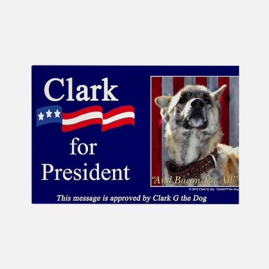 Clark G for President Rectangle Magnet (10 pack)