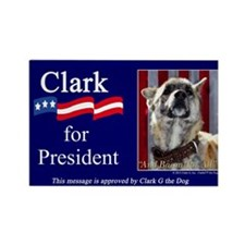 Clark G for President Rectangle Magnet