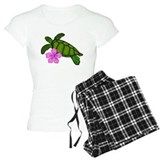 Colored sea turtle hibiscus light T-Shirt / Pajams Pants