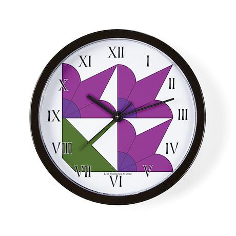 Pot of Lilies Wall Clock