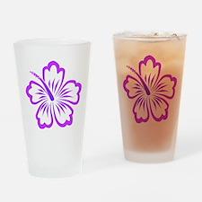Purple Hibiscus Drinking Glass