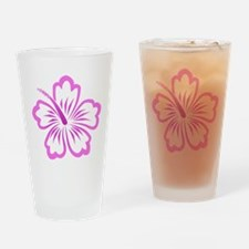Cute Hibiscus blue Drinking Glass