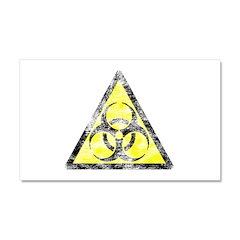 Vintage Bio-Hazard 3 Car Magnet 20 x 12
