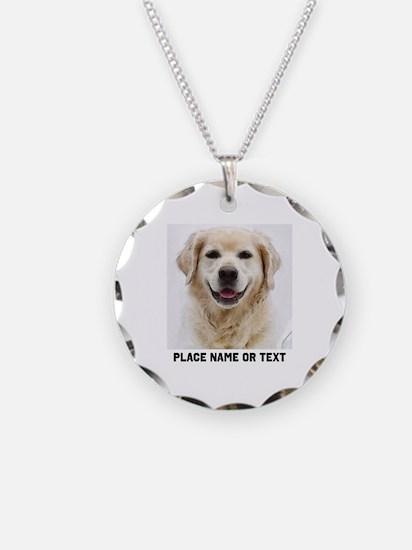 Dog Photo Customized Necklace Circle Charm