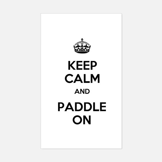 Keep Calm and Paddle On Sticker (Rectangle)