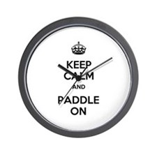 Keep Calm and Paddle On Wall Clock