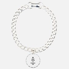 Keep Calm and Paddle On Bracelet