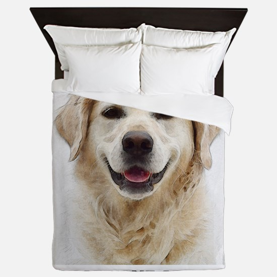 Dog Photo Customized Queen Duvet