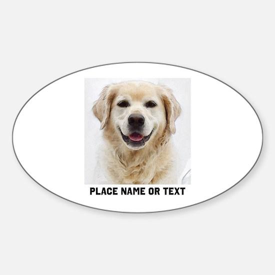Dog Photo Customized Sticker (Oval)