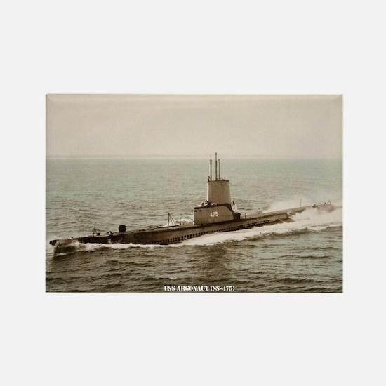 USS ARGONAUT Rectangle Magnet