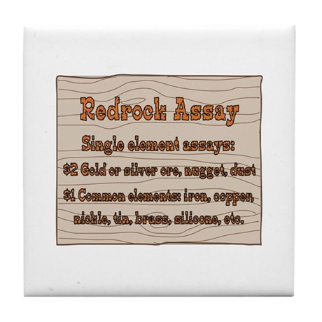 Old West Signs Redrock Assay Tile Coaster