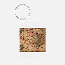 Texas Maps Keychains