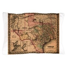 Antique Map of Texas Pillow Case