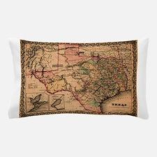Antique Map of Texas Pillow Case